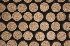 Piled corks Stock Images
