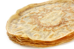 Piled crepes on a white background Stock Image