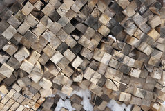 Piled cut wood Stock Photography