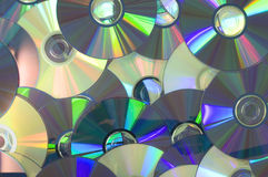 Piled of DVD Royalty Free Stock Photo