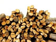 Piled firewood Stock Image