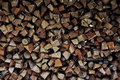 Piled firewood Stock Photography