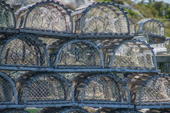 Piled Lobster Traps Royalty Free Stock Image
