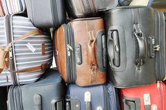 The piled luggages Stock Image