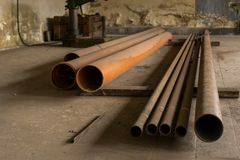 Free Piled Old, Rusty, Dirty Pipes Stock Images - 34967724
