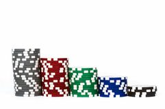 Piled poker chips Stock Photography
