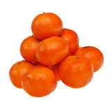 Piled ripe mandarins. Stock Photo
