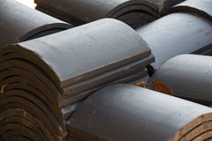 Piled roof tiles Stock Photography