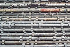 Piled Scaffolding Metal Pipes Royalty Free Stock Images