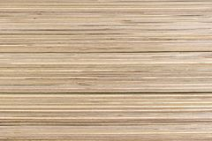 Piled sheets of plywood in a building materials store stock photo