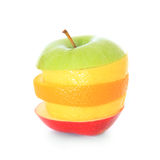 Piled slices of various fruits Stock Image