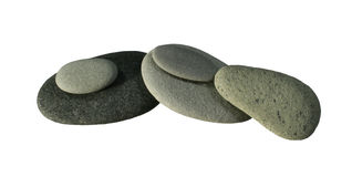 Piled smooth gray pebbles Royalty Free Stock Photography