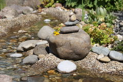 Piled stones. In a garden Royalty Free Stock Photos