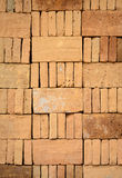 Piled up of brick stack in a construction site Stock Photography