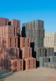 Piled up bricks Royalty Free Stock Photography