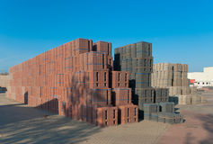 Piled up bricks Stock Image