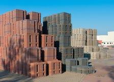 Piled up bricks Stock Photo