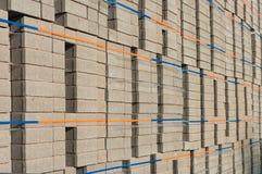 Piled up bricks Stock Images
