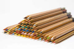 Piled up colored pencils Stock Photo