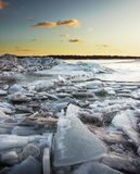 Piled up ice royalty free stock photography