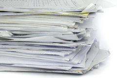 Piled up office work papers Stock Photography