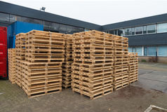 Piled up pallets Stock Image