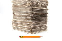 Piled up roles Stock Image