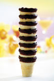 Piled waffle cups, close-up Royalty Free Stock Image