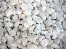 Piled of white stones Royalty Free Stock Photo