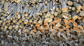 Piled wood Royalty Free Stock Photography