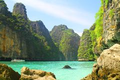 Pileh Bay on Koh Phi Phi Le Island - Thailand Stock Photo