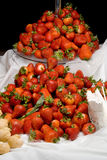 Piles of Big Strawberries Stock Images