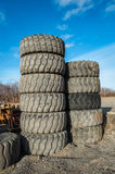 Piles of big tires Royalty Free Stock Images