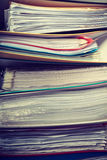 Piles of binders with documents. Stock Photography