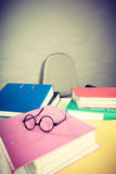 Piles of binders with documents. Royalty Free Stock Photos