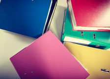 Piles of binders with documents. Royalty Free Stock Photography