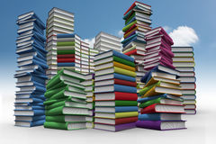 Piles of books Royalty Free Stock Photo
