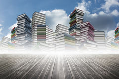 Piles of books Stock Images
