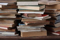 The piles of books on the table. Stock Photography