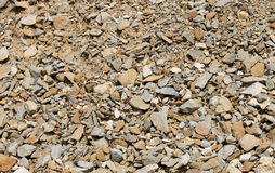 Piles of brown rocks Stock Images
