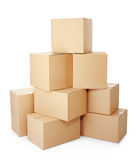Piles of cardboard boxes Stock Photos