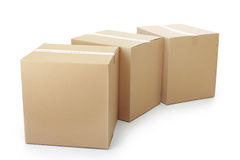 Piles of cardboard boxes royalty free stock photography