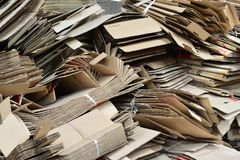 Piles of cardboards. Piles of cardboards for factory and home use Royalty Free Stock Photo