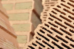 Piles of ceramic bricks Stock Photography
