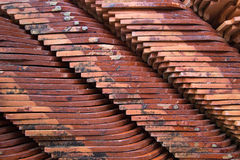 Piles of ceramic roofing Royalty Free Stock Photography