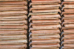 Piles of ceramic tiles as background. Stock Image