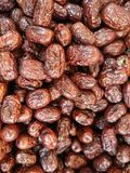 A piles of China dates or jujube or red dates a healthy recipe Royalty Free Stock Photos