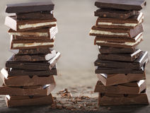 Piles of chocolate1 Royalty Free Stock Photography