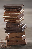 Piles of chocolate3 Royalty Free Stock Images