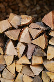 Piles of chopped firewood Royalty Free Stock Image